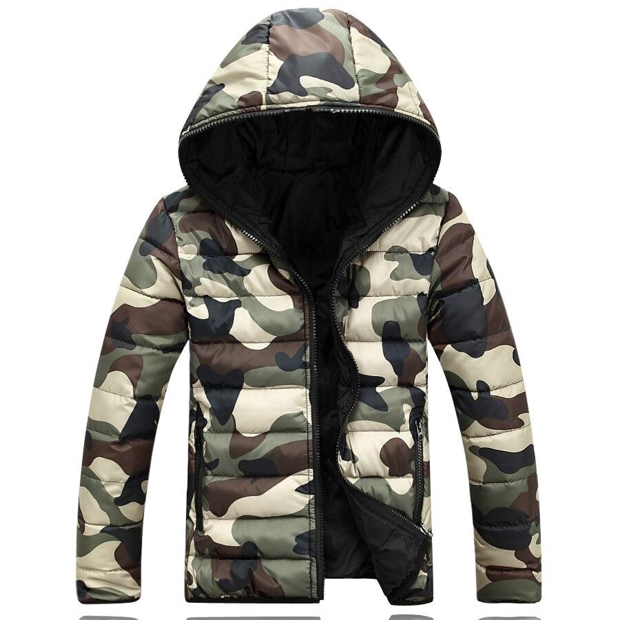 2017 зимние Для Мужчинs пуховик мужской теплая камуфляжная куртка холодной защитной одежды большой ярдов Человек Капюшон Slim Fit Мужские парки