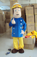 Fireman Sam Mascot Costume Fancy Dress Adult Size for Halloween Party Event  Clothin Free Shipping