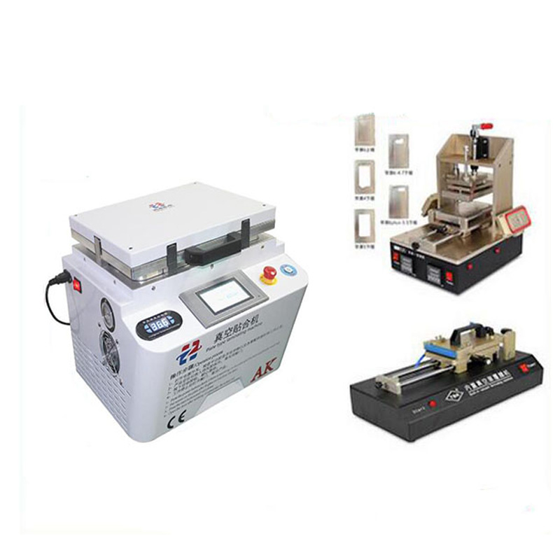 Automatic Lock Automatic Vacuum Laminating Bubble Remover Machine+OCA film machine +5 in1 Frame Separator machine