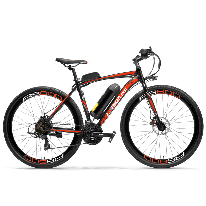 RS600 Powerful Electric Bike, 36V 10A/20A Battery Ebike,700C Road Bicycle, Both Disc Brake, Aluminum Alloy Frame, Mountain Bike