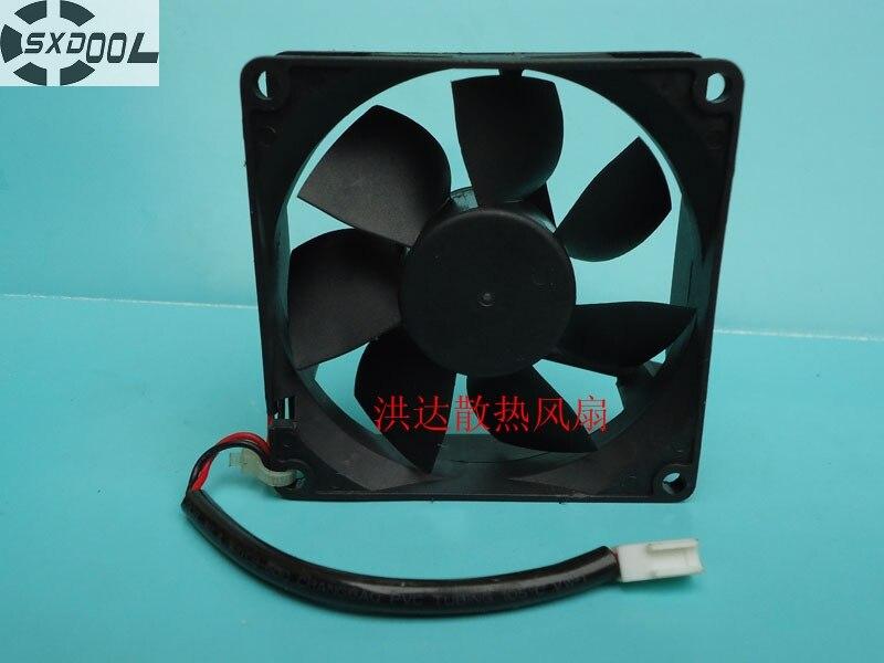 SXDOOL cooling fan 12v 8025 8025H12S ND9 80mm 8cm DC 12V 0.24A 2Wire Server Computer axial cooler