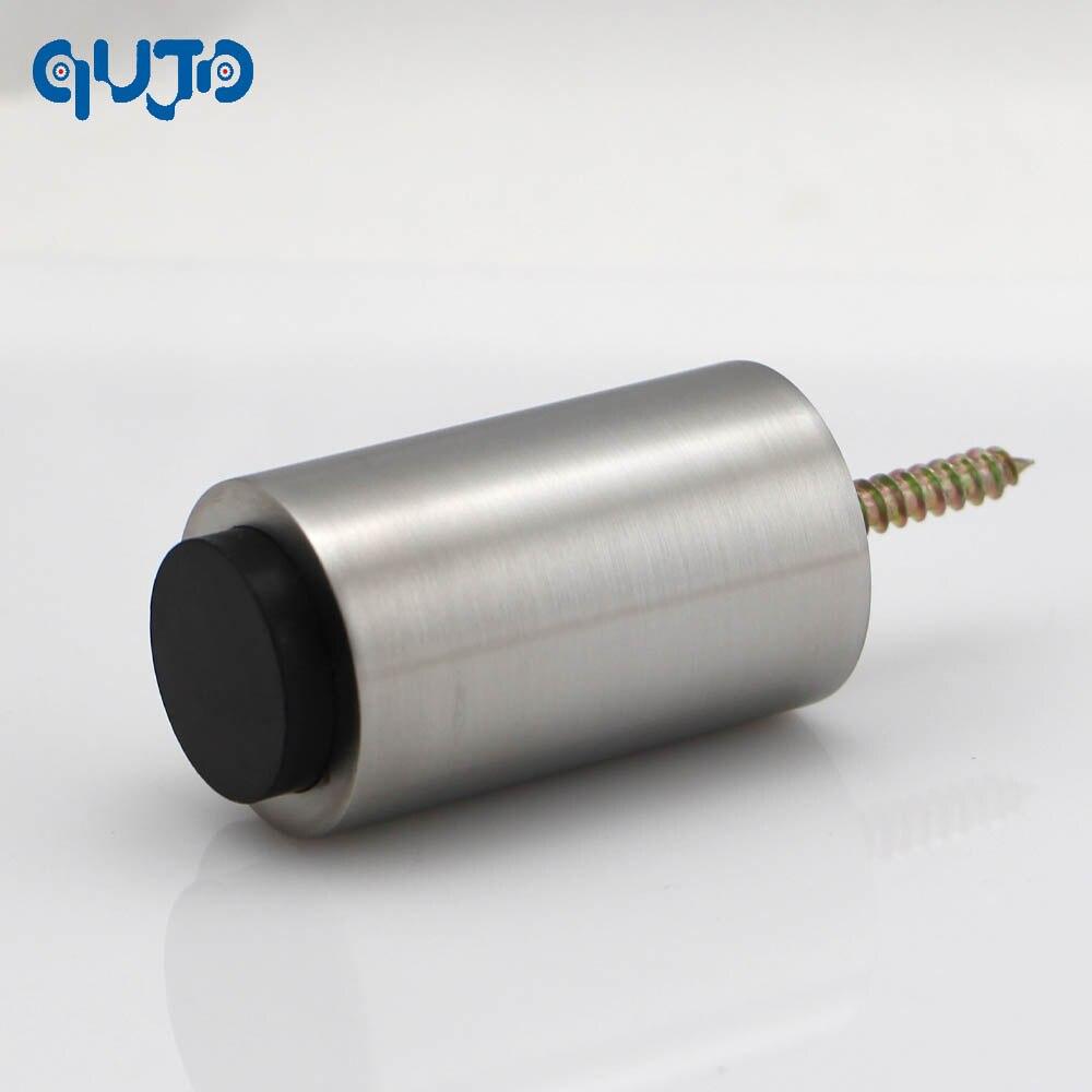 2015 New type Simple to install Stainless steel 304 solid door stopper rubber doorstops wall door closer