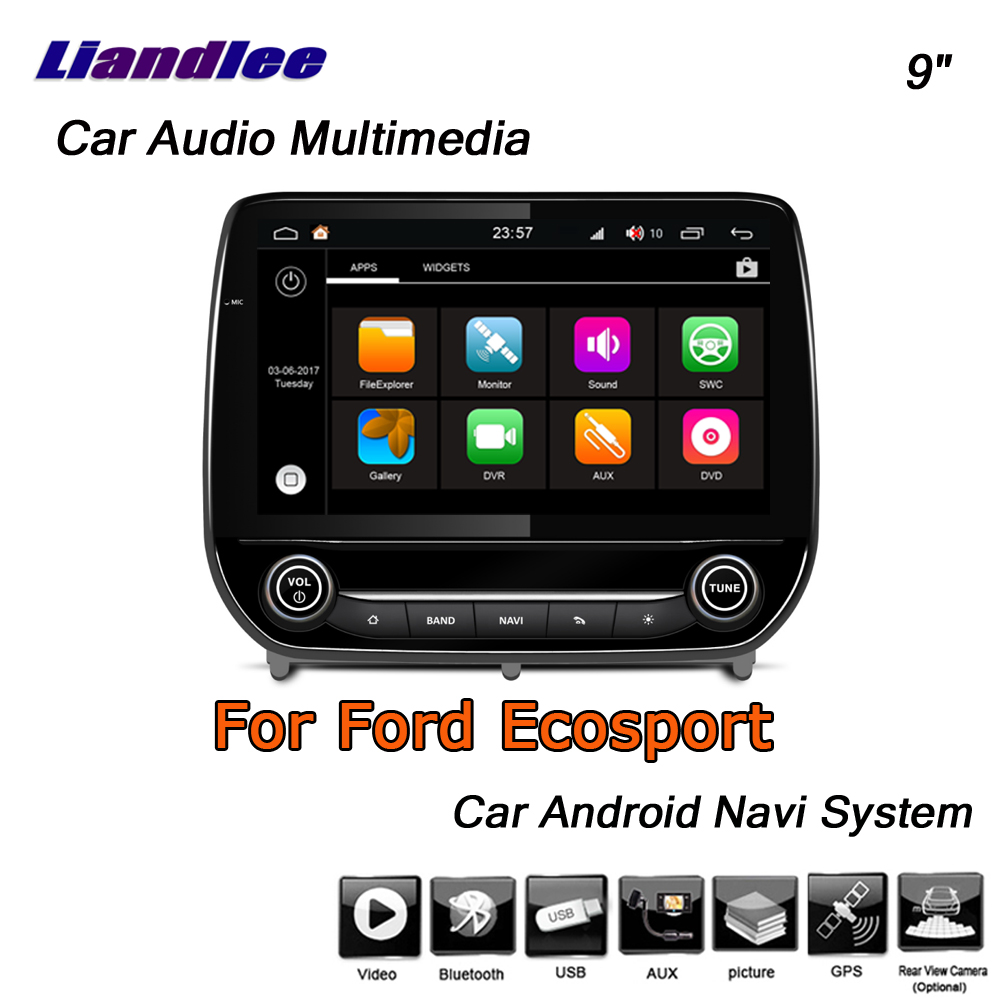 Liandlee Android 8 UP For Ford Ecosport 2018~2019 Stereo Car Radio Carplay  Camera BT FM GPS Map Navi Navigation System No CD DVD
