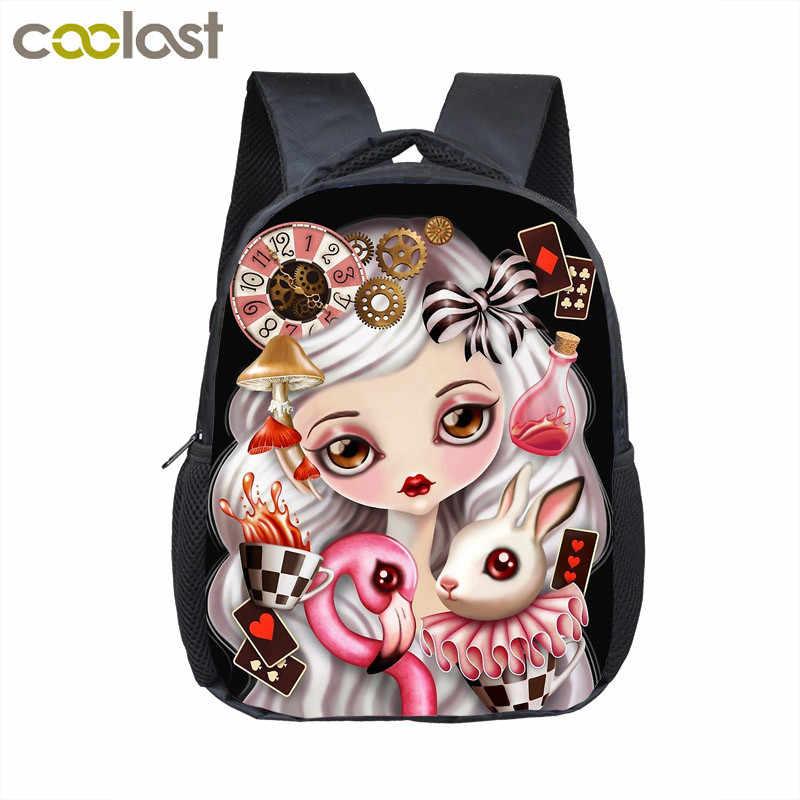 7722af2cf6d4 12 дюймов мультфильм медведь/Кролик Детский Школьный рюкзак сумка Детские  рюкзаки для девочек мальчиков крутой