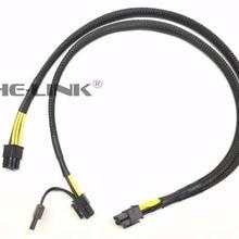 10pin до 6+ 8pin Мощность кабель с адаптером для hp DL380 G6 и графического процессора 50 см