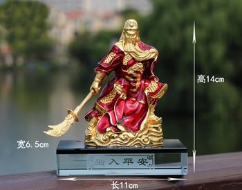 HOME OFFICE  SHOP CAR TOP Efficacious Talisman Protection Money Drawing Martial God of wealth Guan gong Guan di FENG SHUI statue