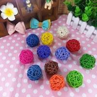 Christmas tree decorative rattan ball,Wedding and home ornament craft ball 3cm 300pcs/lot Free shipping 014002002