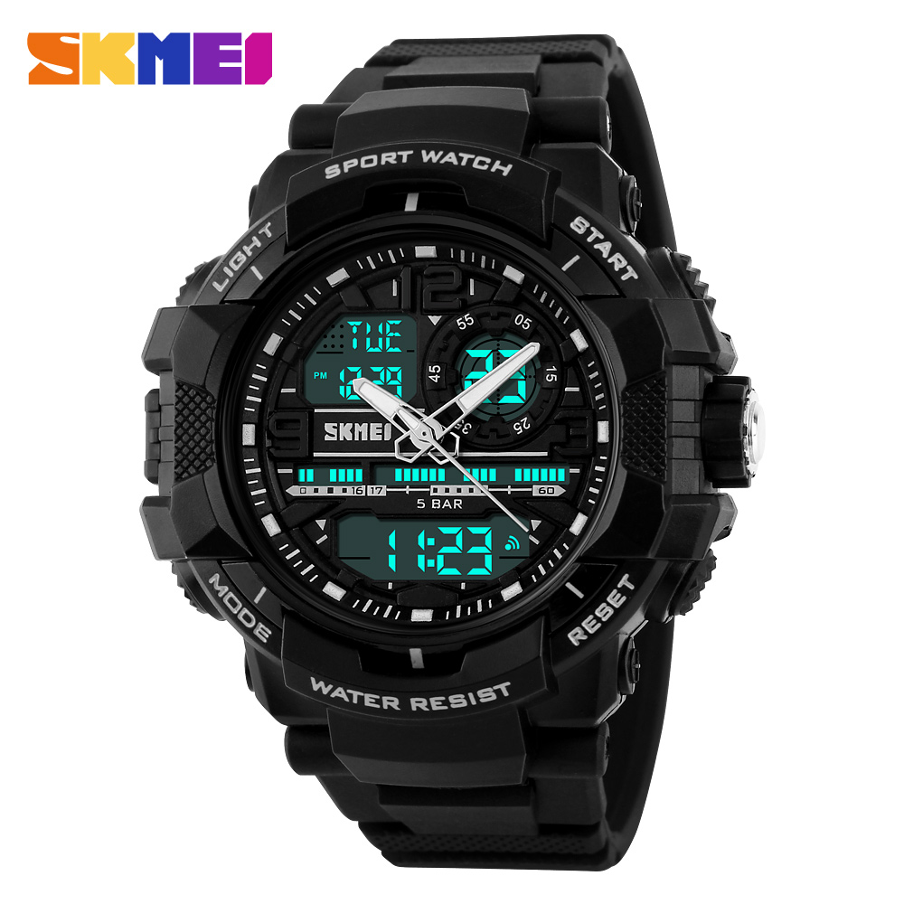SKMEI Men's Sport Watch Men Digital Quartz Waterproof Multifunction Outdoor Casual LED Wristwatch relogio masculino hoska hd030b children quartz digital watch