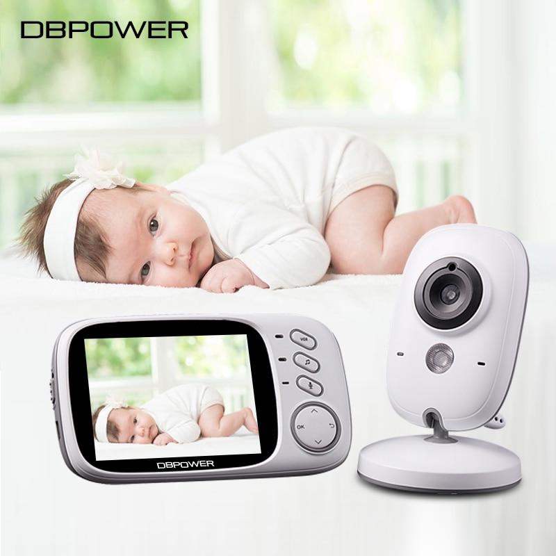 imágenes para DBPOWER 3.2 pulgadas Inalámbrico Bebé Monitor de 2.4 Ghz de 2 Vías de Audio Cámara De Vídeo Bebé 5 M NightVision Temperatura Cuna Portátil cámara