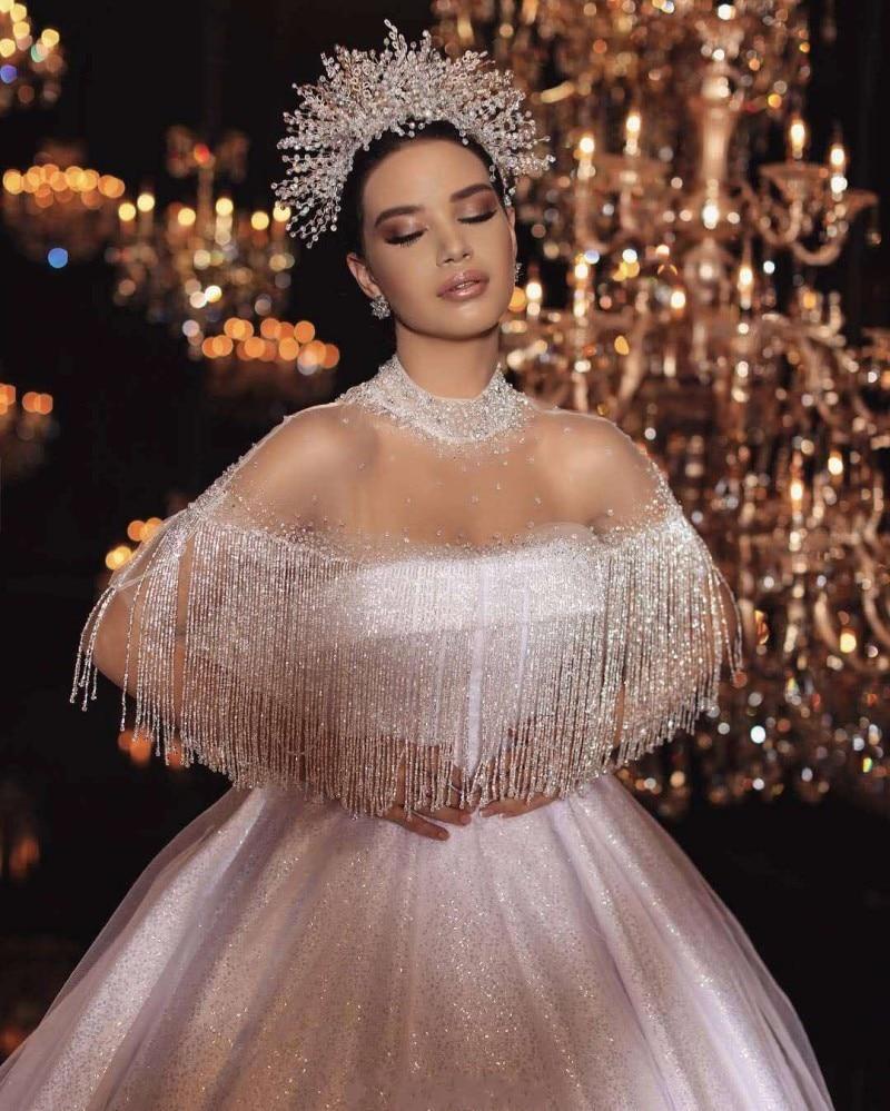 Luxury Dubai Ball Gown Wedding Dress 2019 Exquisite