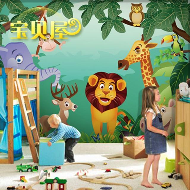 Custom made animal zoo photo wallpaper 3d wallpaper for living ...