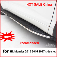 For Highlander 2015 2016 2017 Running Board Side Step Side Foot Bar Supplied By ISO9001 Factory