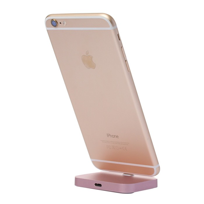 High Quality Metal Charging Base Dock Station Cradle Desktop Docking <font><b>Charger</b></font> For Apple iPhoneX 5 6 6S 6Plus 7 8 7Plus iPhoneXS image