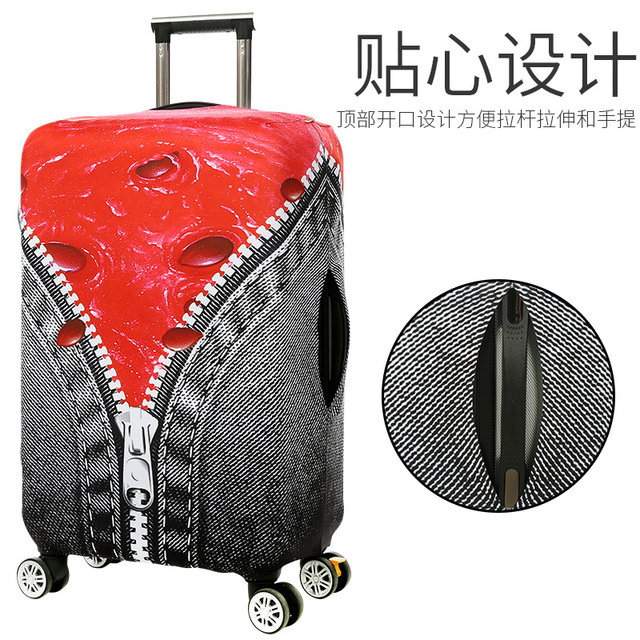 Creative Design Travel Suitcase Protective Covers Elastic Thick Luggage Cover for 18-32 Inch Trolley Case Dust Cover Printing Luggage Covers
