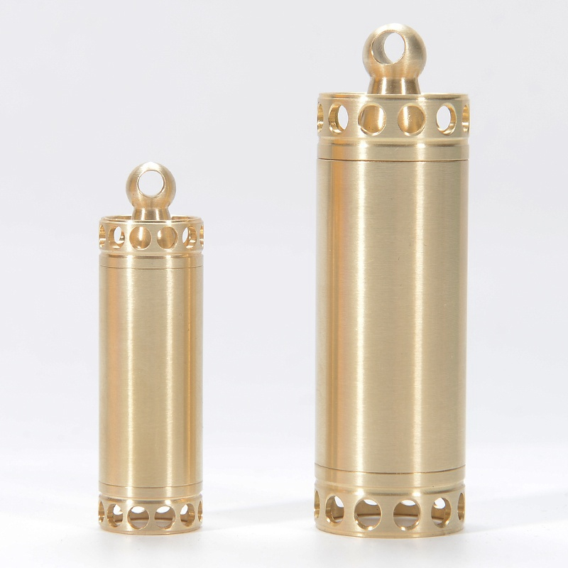 Brass Outdoor Waterproof Capsule Seal Bottle Pill Holder Emergency First Aid Kits Safety Survival Pill Bottle Camping EDC Tank