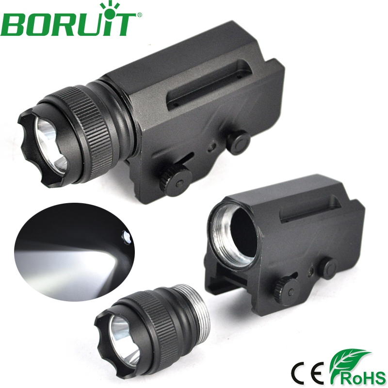 BORUiT Bright 1600lm XML L2 LED Tactical Gun Flashlight Portable Torch Light Waterproof Camping Hunting Lantern Lamp Aluminum super bright c8 led xml l2 flashlight 5000lm tactical flash light aluminum torch camping lamp light outdoor lighting