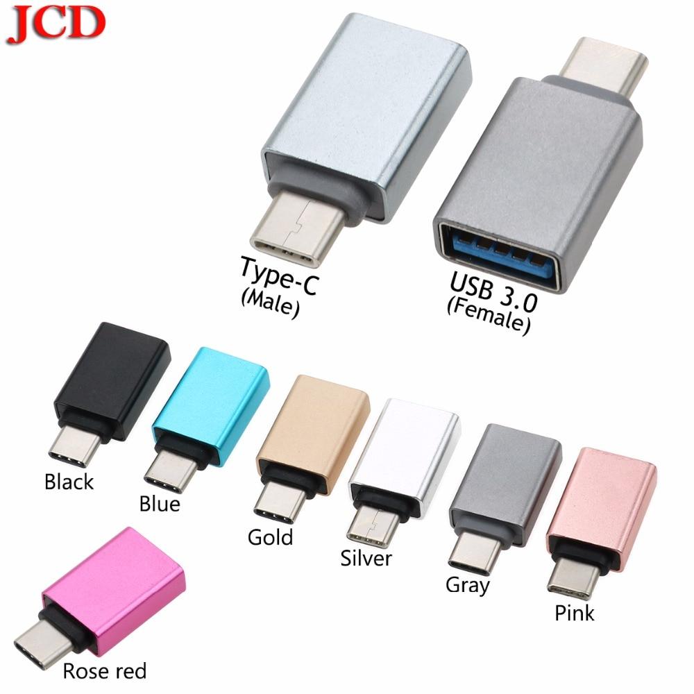 AnalíTico Jcd Para Huawei P20 Usb 3,0 Tipo-c Otg Adaptador De Cable Tipo C Usb-c Convertidor Otg Para Xiaomi Mi5 Mi6 Del Ratón Del Teclado De Usb Disco Flash