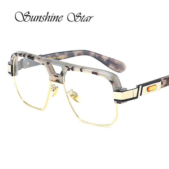 9162fd641eb Pop Age Fashion Luxury Square Oversized Clear lens glasses Women Men Brand  Designer Celebrity glasses Vintage Oculos Gafas