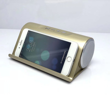 Portable intelligent wireless Bluetooth speaker stereo subwoofer mobile phone bracket TF card multi-function