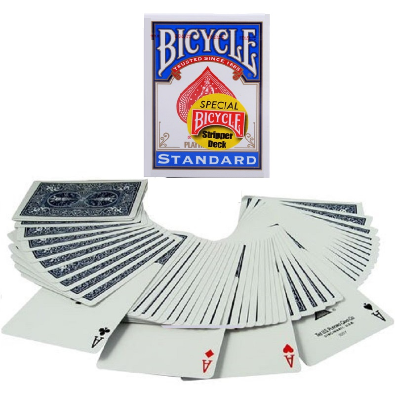 1pcs Bicycle Stripper Deck Magic Cards Playing Card Close Up Street Magic Tricks for Professional Magician Kid Puzzle Toys
