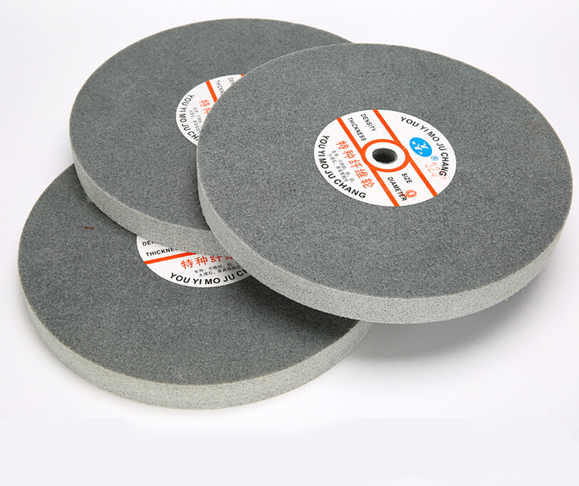 Metal polishing wheel 200*25mm 7p Non woven abrasive wheel Nylon Fiber polishing wheel Abrasive disc Grinding wheel