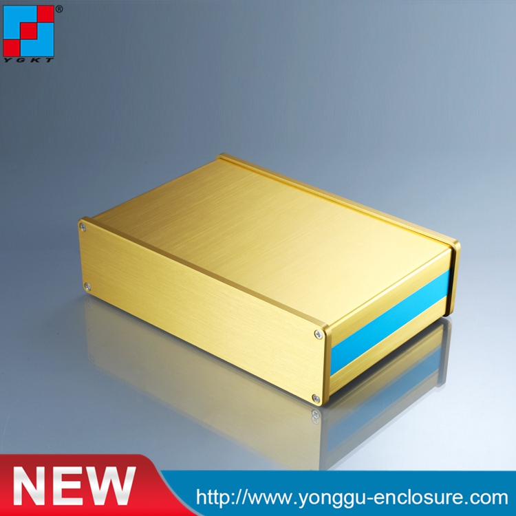 YGS-036 202*52-130mm (WxH-L) aluminum extrusion enclosure projects custom box /diy aluminum enclosure pcb aluminium housing metal electronics box diy aluminum enclosure ygs 036 96 45 5 140mm wxh d