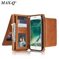 Luxury Multifunction Wallet PU Leather Case For Apple IPhone 6 7 7Plus 6S 6Plus Purse Pouch