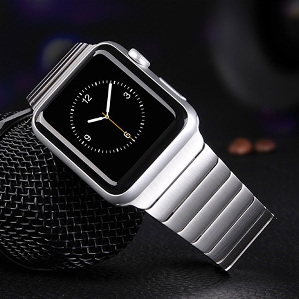 Rosegold Luxury For Apple Watch Link Bracelet Band 42mm 38mm Black Silver Stainless Steel Original Banda For Iwatch Watchbands black silver u shape aluminium alloy stand docking charger station holder for apple watch iwatch