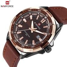 NAVIFORCE العلامة التجارية الأصلية موضة ساعة رجالي ساعة كوارتز الرجال مقاوم للماء ساعة معصم ساعة عسكرية relogio masculino