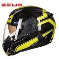 Top de fibra de carbono anti-reflexo desaceleração rosto cheio capacete dot moto racing capacetes de moto casco casque