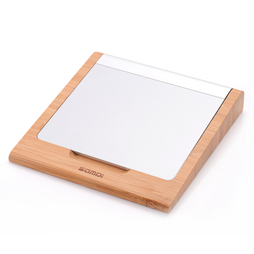 Bamboo Wireless Touchpad Dock Rack Wood Holder Trackpad Wooden Stand Bracket for Apple Magic Trackpad Touchpad док станция henge docks clique hds hda01clique для подключения magic trackpad к apple wireless key