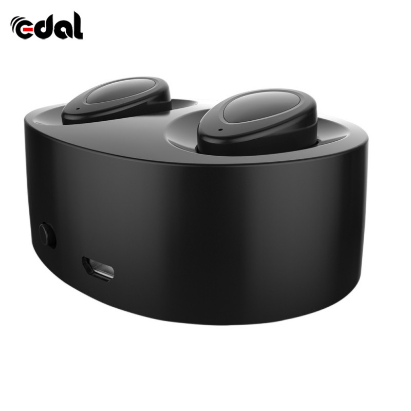 Wireless Twins Dual Stereo Bluetooth Earphones Mini Bluetooth Headset Handsfree Earbuds Microphone Double Earpieces Charger Box newest twins wireless 3d stereo earbuds small invisible mini bluetooth earphones headset with charger box for all phones