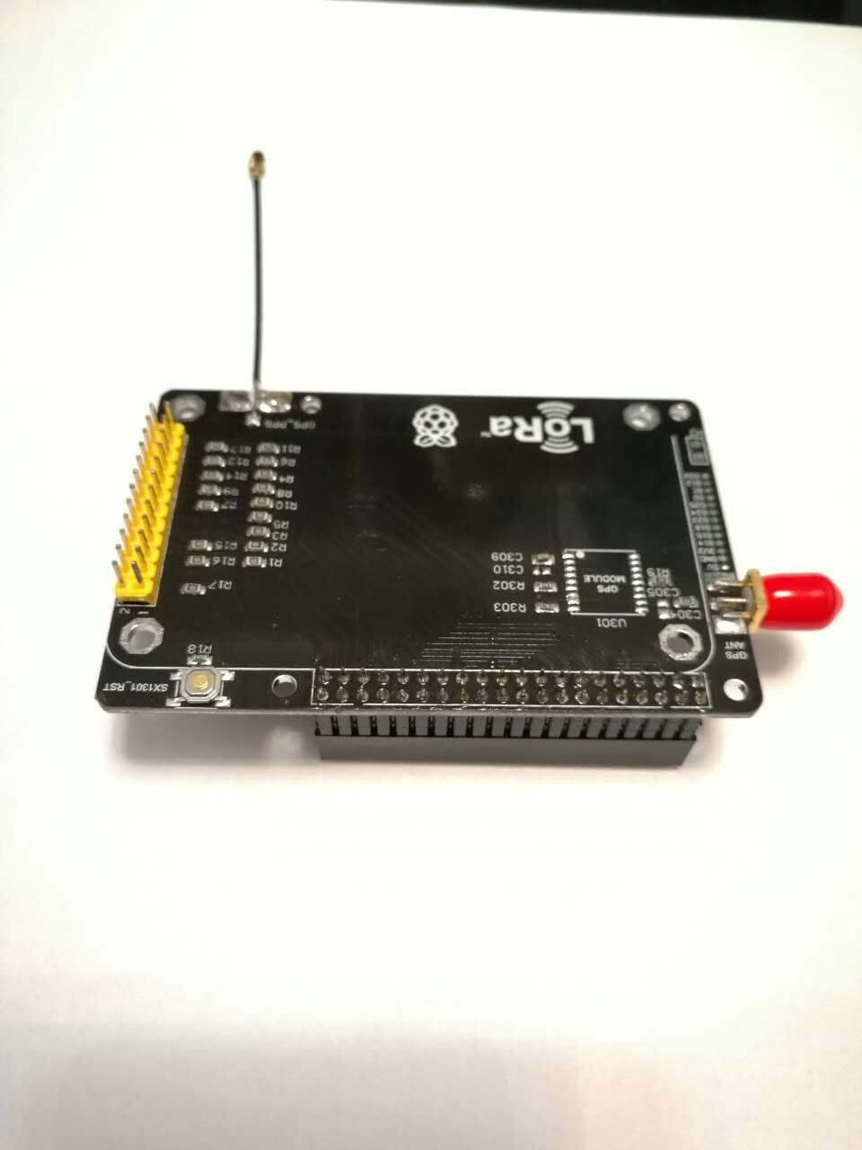 For SX1301 module adapter (to raspberry pie) contains GPS module