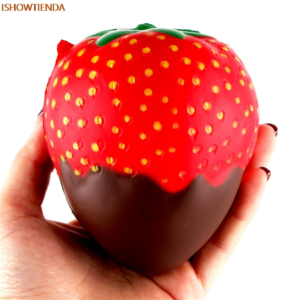 11.5cm Strawberry Scented Squishy Slow Rising Squeeze Toys Jumbo Collection  PU Galaxy Cut11.5cm Strawberry Scented Squishy Slow Rising Squeeze Toys Jumbo Collection  PU Galaxy Cut