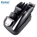KM-500 8 in 1 Professional Multifunction Rechargeable Electric Hair Clipper Trimmer Razor Cordless Adjustable Clipper