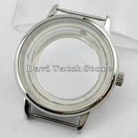 40 milímetros Sliver Simples Relógio de Aço Caso fit Miyota 8205/8215/821A  mingzhu DG2813 Movimento A721|Caixas de relógios| |  -