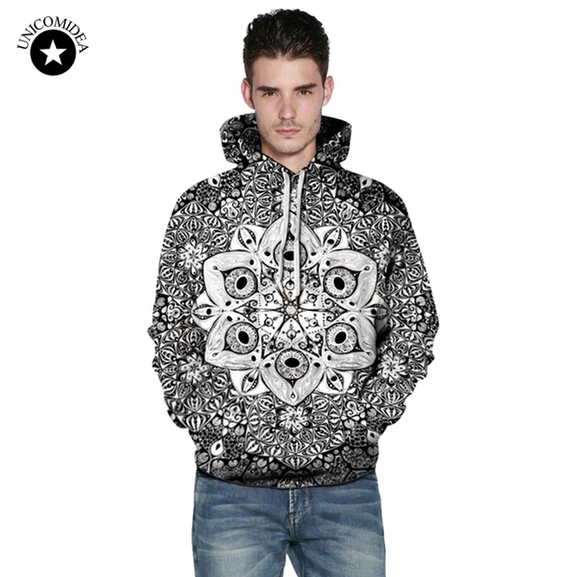 63c34f596b8 Psychedelic Mandala Printed Hoodie Bohemian Sweatshirt Men Women Autumn  Sportswear Tracksuit Hip Hop Street Clothing Plus Size
