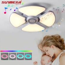 Smart App Dimmable LED Ceiling Lights For Bedroom Dining room Kitchen Bluetooth Music White Ceiling Lamp Indoor Lighting цены