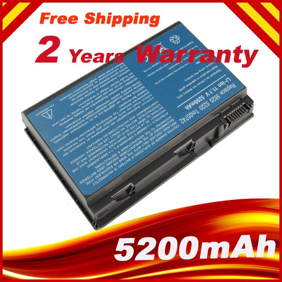 6 hücreleri Laptop batarya Acer Extensa 5220 5235 5620 5630 7620 TravelMate 5320 5520 5720 5730 7720 7520 TM00741 TM00751 GRAPE32