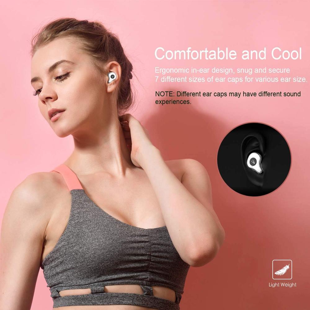 Bluetooth Шум Отмена наушники Hi Fi за ухо Беспроводной гарнитура глубокий бас стерео Шум снижение наушники Bluetooth - 3