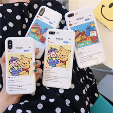 Funny Cartoon Sesame Street Lovely bear Mobile Phone Case For iphone 6 6s 6plus 7 7plus 8 8plus X Fashion Cute Candy