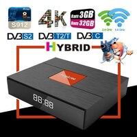 Magicsee C400 Plus 3G 32GB Hybrid Smart TV Set Top Box DVB S2 DVB T2 4K HD Satellite TV Decoder Dual WiFi 2.4/5.0G Media Player