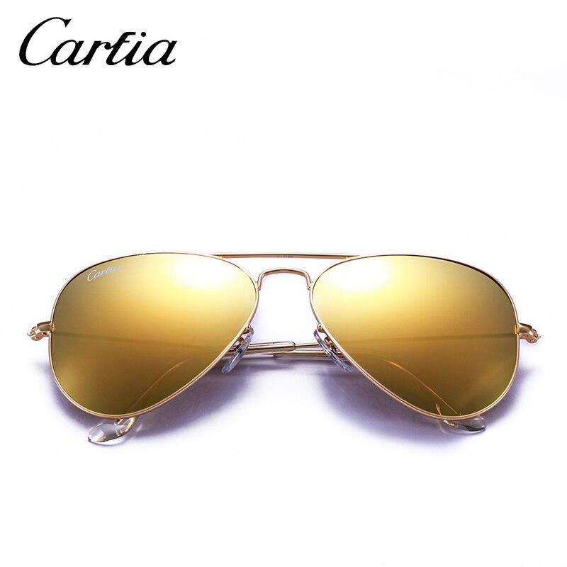 c57d96dae6 Carfia Aviator Sunglasses Classic Pilot Sun Glasses For Men Women Brand  Designer Blue Green Pink 100% UV400 Protection CA3025-in Sunglasses from  Apparel ...