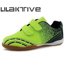 LILAKTIVE Kids Soccers Shoes 2019 Outdoor Breathable Sneakers Original Boy Hook & Loop Football  Zapatillas Nino