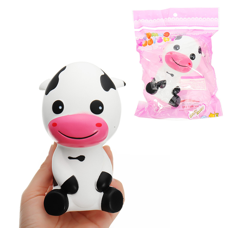 Toys & Hobbies Novelty & Gag Toys Cows Squishyed Toy 14*8.5cm Slow Rising With Packaging Collection Gift Soft Squishying Toys Novelty Gags For Kids Childern Pure Whiteness