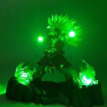 Dragon Ball Z Broly Super Saiyan Action Figures Led Head Lighting PVC Anime Dragon Ball Super Goku Broly Model Toy Figurine DBZ