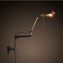 Retro Loft Estilo Industrial de La Vendimia Edison lámpara de Pared Lámpara de Pared de Las Luces Para El Hogar, luz de la Arandela De Pared de Pared de La Vendimia