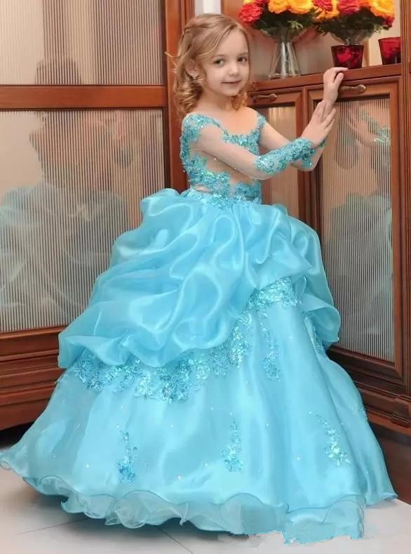 2019 flower girl dresses for wedding pageant dresses long