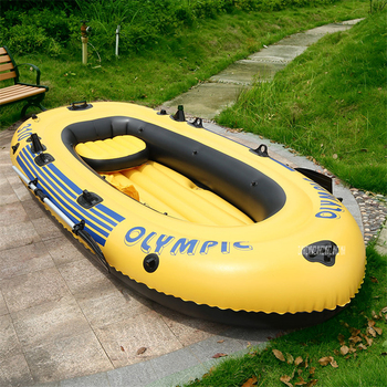 3 Adults+1 Child Super Thickening Inflatable Rowing Boat 4 Persons 300*145CM Boat Inflatable Rowing Boat with Spare Parts фото