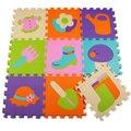 32*32 cm 9 pçs/set Enigma Tapete esteira Do Jogo Do Bebê Tapete Crianças EVA Foam Mat Enigma Chão Tapete De chão de Mosaico bloqueio puzzles